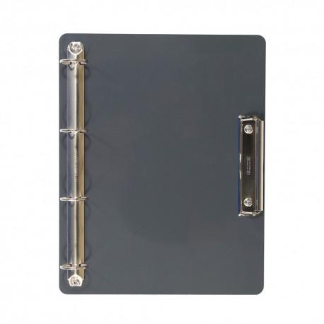 Support magnétique A4 horizontal 4 anneaux + 1 pince