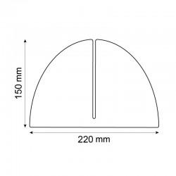 Vitre de séparation bureau - H.620 x L.1000 mm
