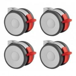 Kit de 4 roulettes - Diamètre 100 mm