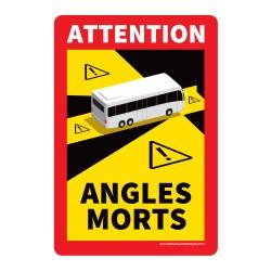Panneau angles morts pour bus - 170 x 250 mm