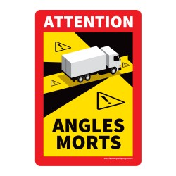 Panneau angles morts pour camions - 170 x 250 mm