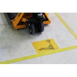 Pictogramme Emplacement chariot élévateur ou véhicule industriel B771