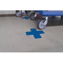 Forme adhésive de traçage au sol : Angle 90° coupé - 100 x 100 x 50mm
