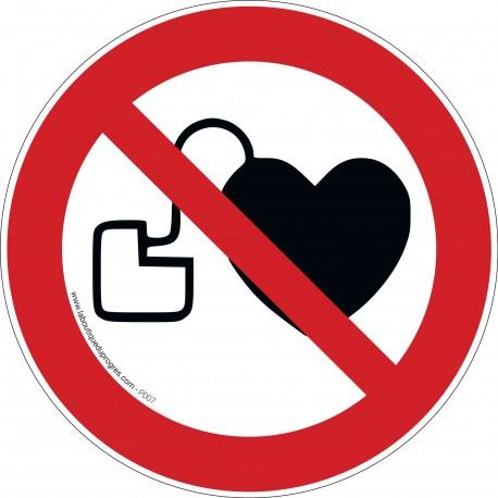 Pictogramme Stimulateur cardiaque : entrée interdite P007