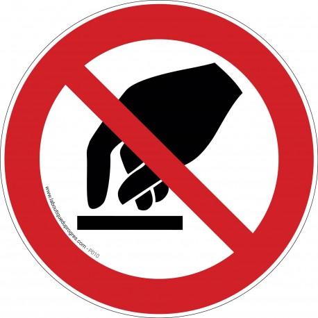 Pictogramme Interdiction de toucher P010