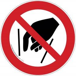 Pictogramme Interdiction de mettre la main P015