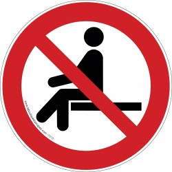 Pictogramme Interdiction de s'asseoir P018