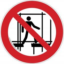 Pictogramme Interdiction d'utiliser un échaffaudage incomplet P025
