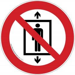 Pictogramme Ascenseur interdit aux personnes P027