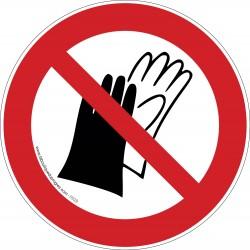 Pictogramme Port des gants interdit P028