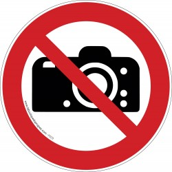 Pictogramme Interdiction de photographier P029