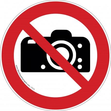 Pictogramme Interdiction de photographier P029