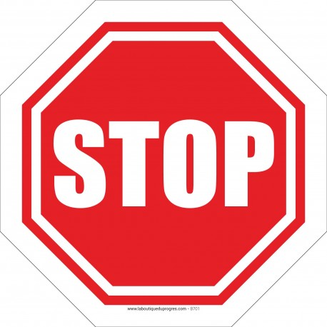 Pictogramme Interdiction d'avancer sans marquer l'arrêt B701