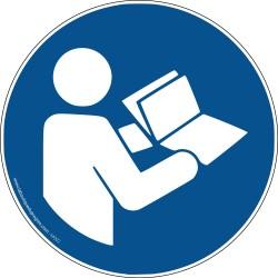 Pictogramme Obligation Consulter le manuel M002