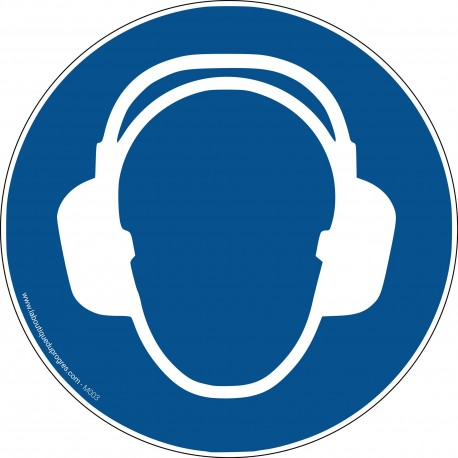 Pictogramme Port du casque anti-bruit obligatoire M003
