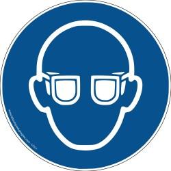 Pictogramme Port de lunettes de protection obligatoire M004