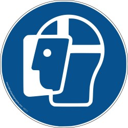 Pictogramme Visière de protection obligatoire M013