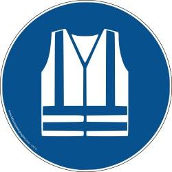 Pictogramme Gilet de sécurité haute visibilité obligatoire M015