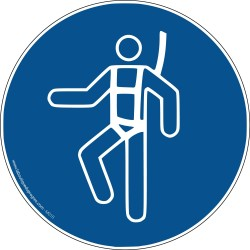 Pictogramme Harnais de sécurité obligatoire M018
