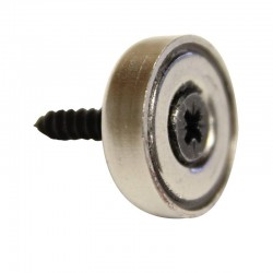 Aimant porte outil à visser D.20 x H.6mm - Lot de 5