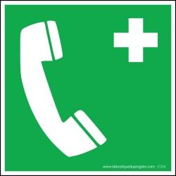 Pictogramme Téléphone d'urgence E004