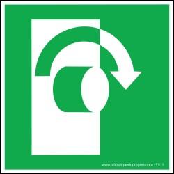 Pictogramme Tourner vers la droite pour ouvrir E019