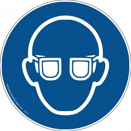 Pictogramme Obligation port des lunettes de protection M004