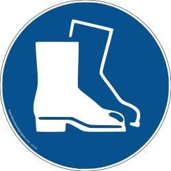 Pictogramme Obligation port des chaussures de sécurité M008