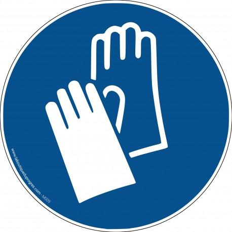 Pictogramme Obligation port des gants M009