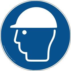 Pictogramme Obligation port du casque M014