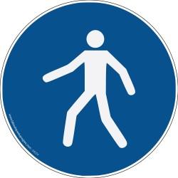 Pictogramme Obligation passage piéton M024
