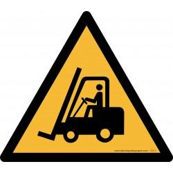 Pictogramme Danger passage de véhicules industriels W014