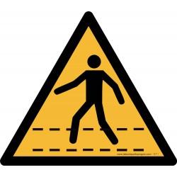 Pictogramme Danger passage piéton B711