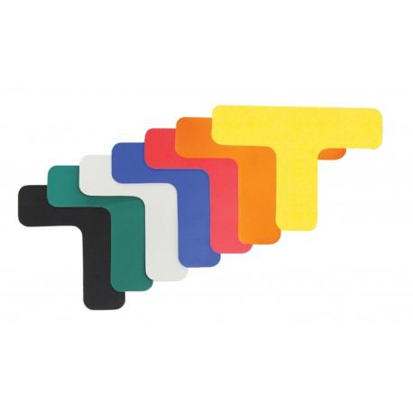 Forme adhésive de traçage au sol : Angle T