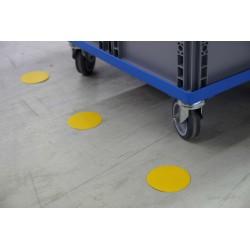 Forme adhésive de traçage au sol : Pastille - Ø 90mm