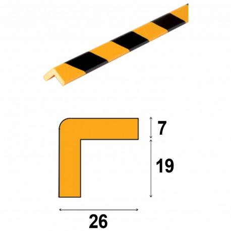 Profilés de protection - Modèle E pour angle droit - 1m