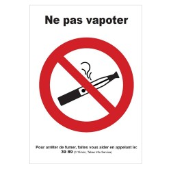 Pictogramme Interdiction de vapoter B733