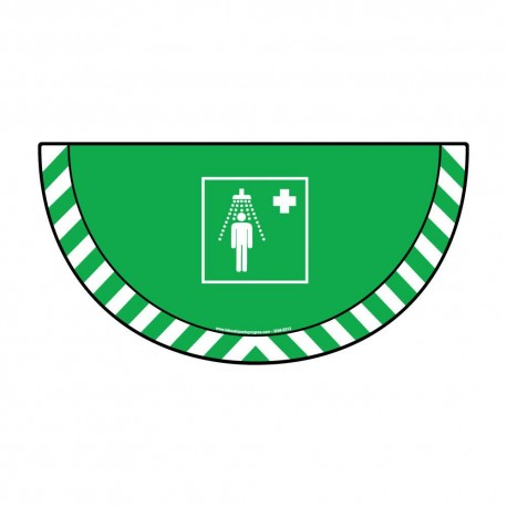 Picto demi cercle Cat.1- visuel E012 - Douche de sécurité