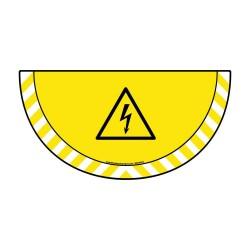 Picto demi cercle Cat.1- visuel W012 - Danger Electrique