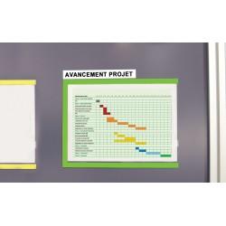 Cadre porte document adhésif - 3 côtés